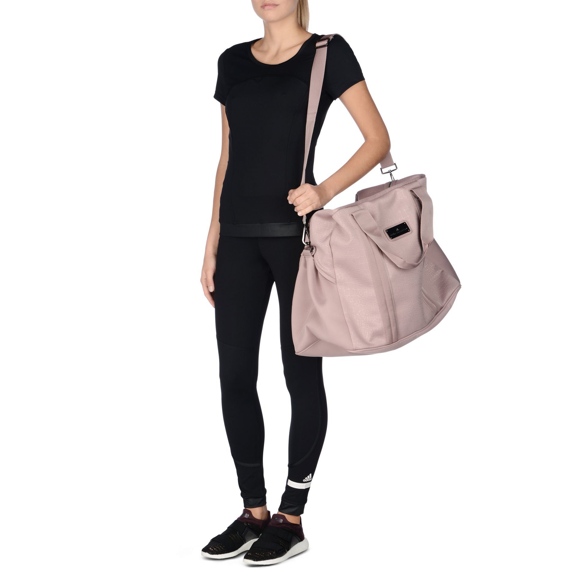 5d31e6c454 Lyst - adidas By Stella McCartney Pink Essentials Sports Bag in Pink