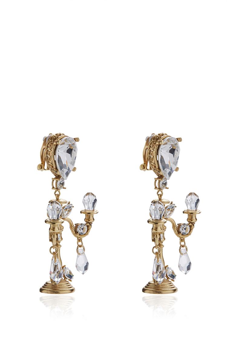 Lyst dolce gabbana chandelier clip on earrings in metallic gallery aloadofball Gallery