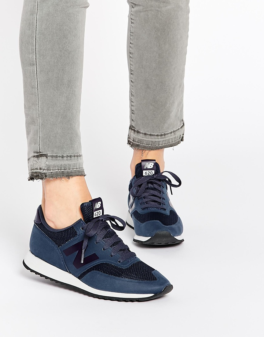 20797bef02c61 ... inexpensive lyst new balance 620 navy micro trainers in blue 81dfa 70136