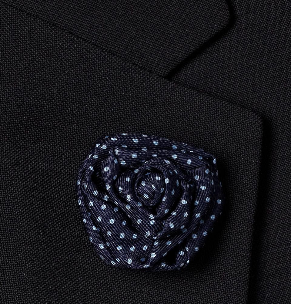 Lyst charvet printed silk lapel flower in blue for men gallery mightylinksfo
