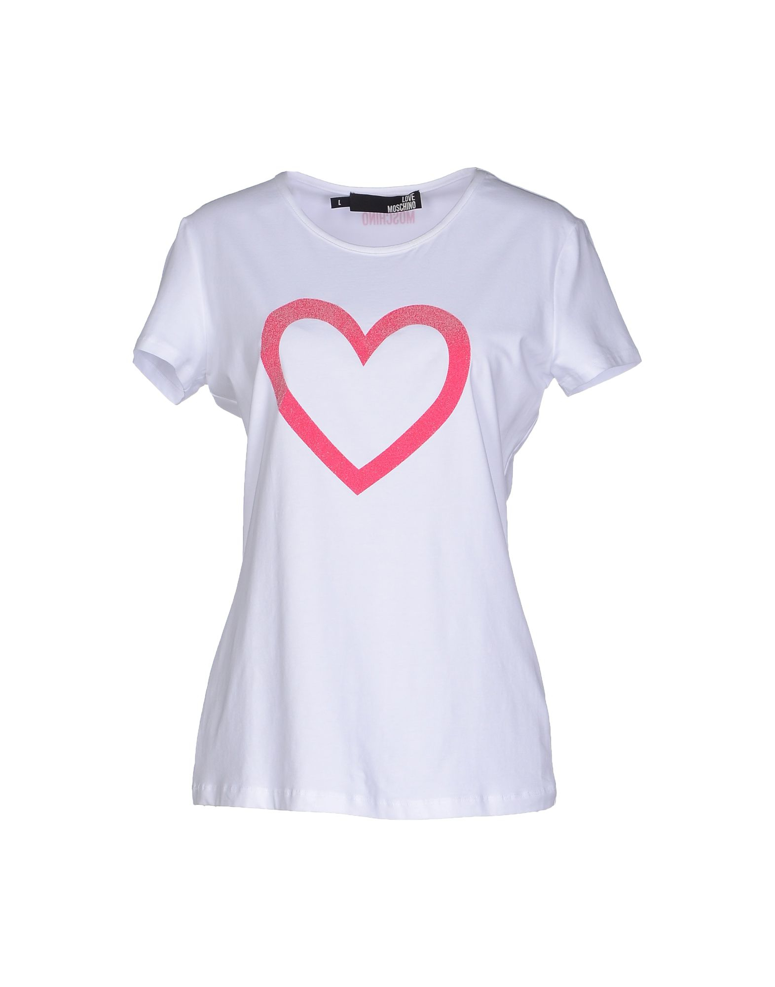 lyst love moschino t shirt in white. Black Bedroom Furniture Sets. Home Design Ideas