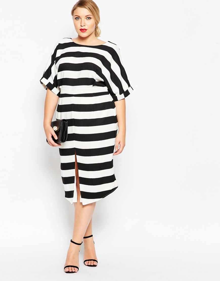 087952c958ed Black And White Striped Dress Asos – Little Black Dress | Black Lace ...