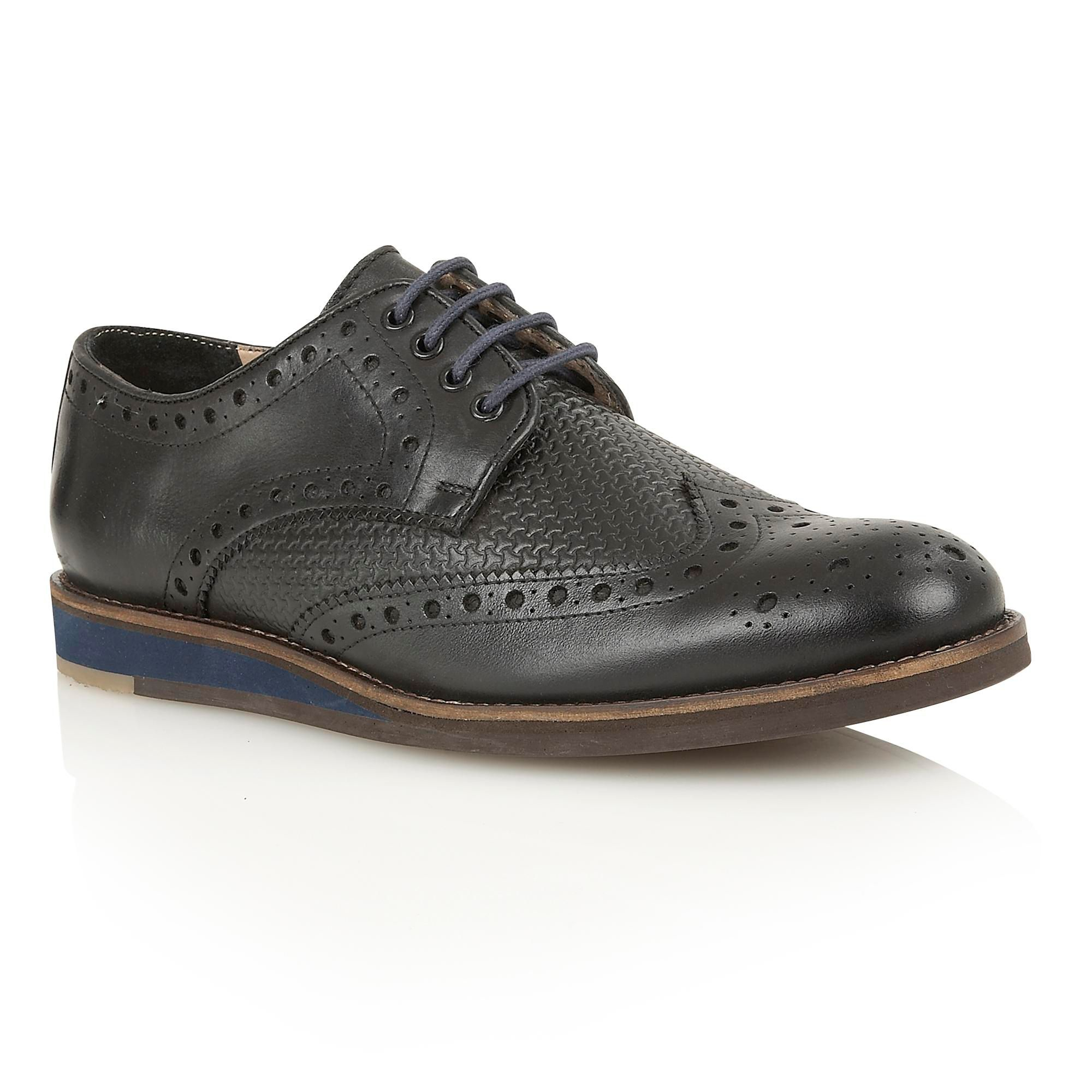 lotus downey lace up shoes in black for lyst