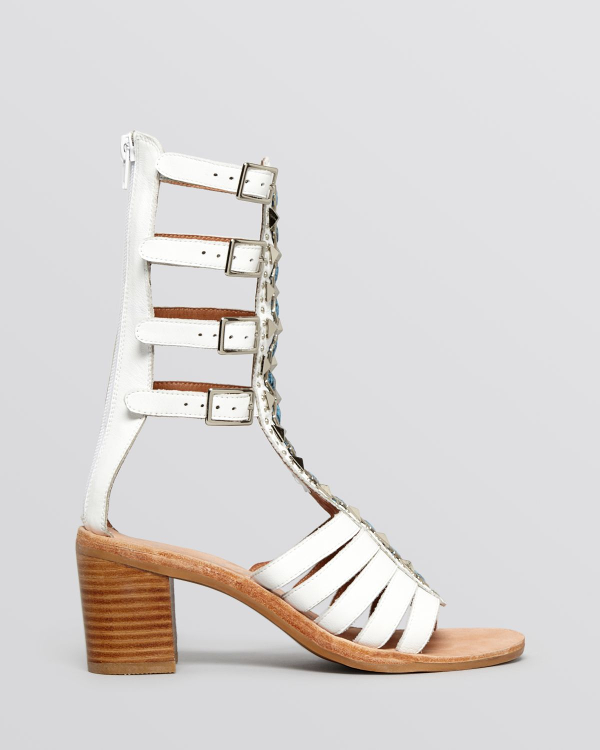 Lyst - Jeffrey campbell Flat Gladiator Sandals - Klamath Block ...