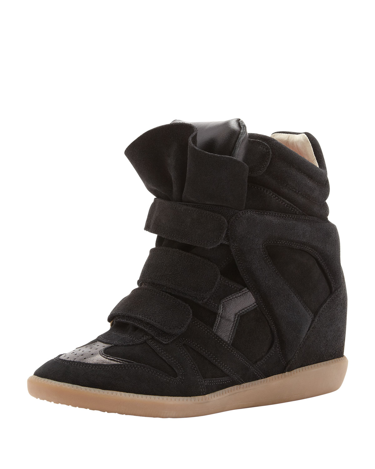 lyst isabel marant bekett sneaker in black. Black Bedroom Furniture Sets. Home Design Ideas
