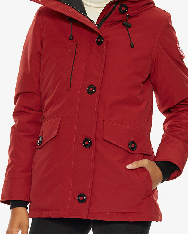 Women's Canada Goose' 'Rideau' Slim Fit Down Parka, Size Small - Orange