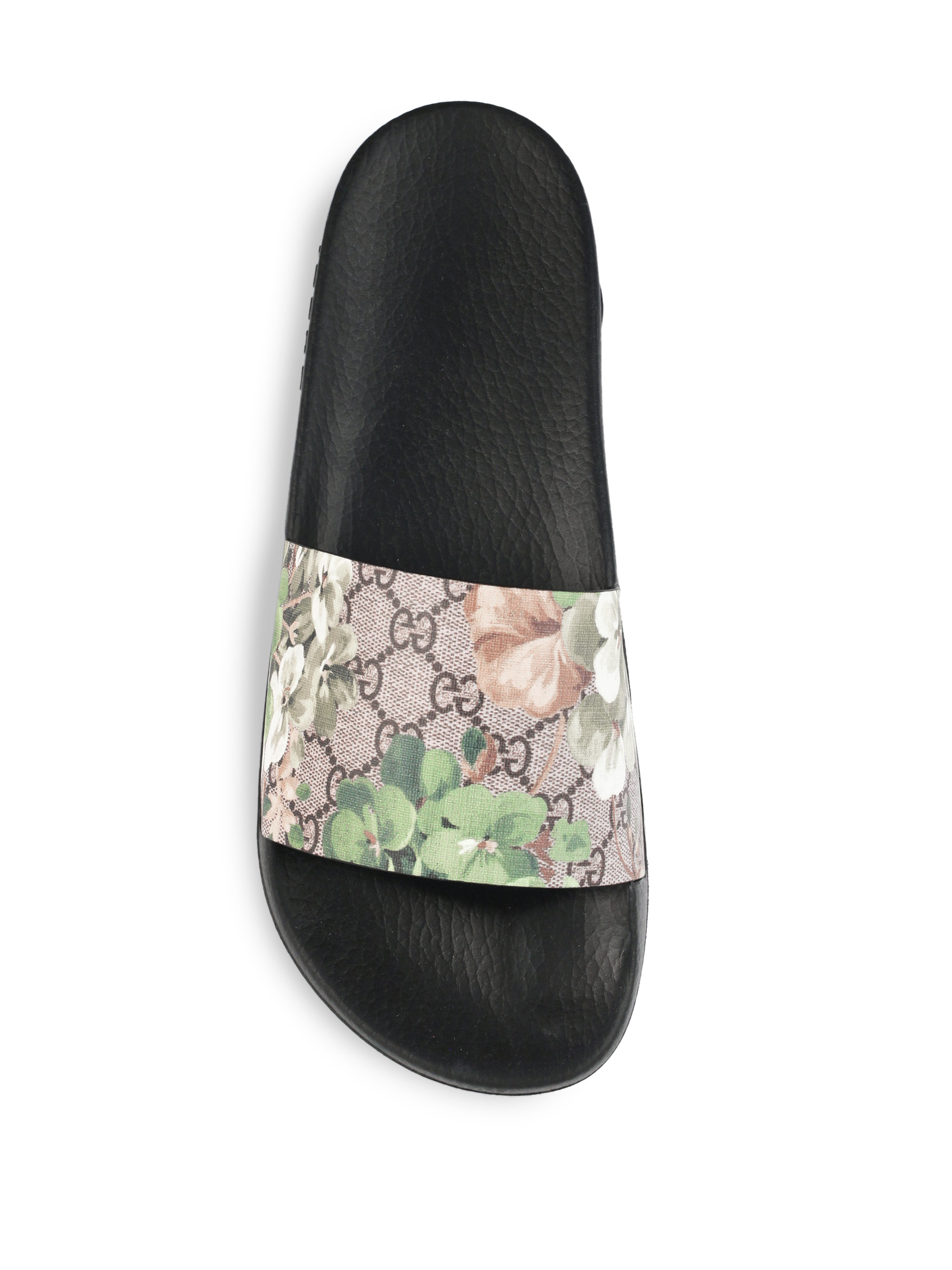 Gucci Pursuit Blooms Print Sandals In Multicolor Lyst