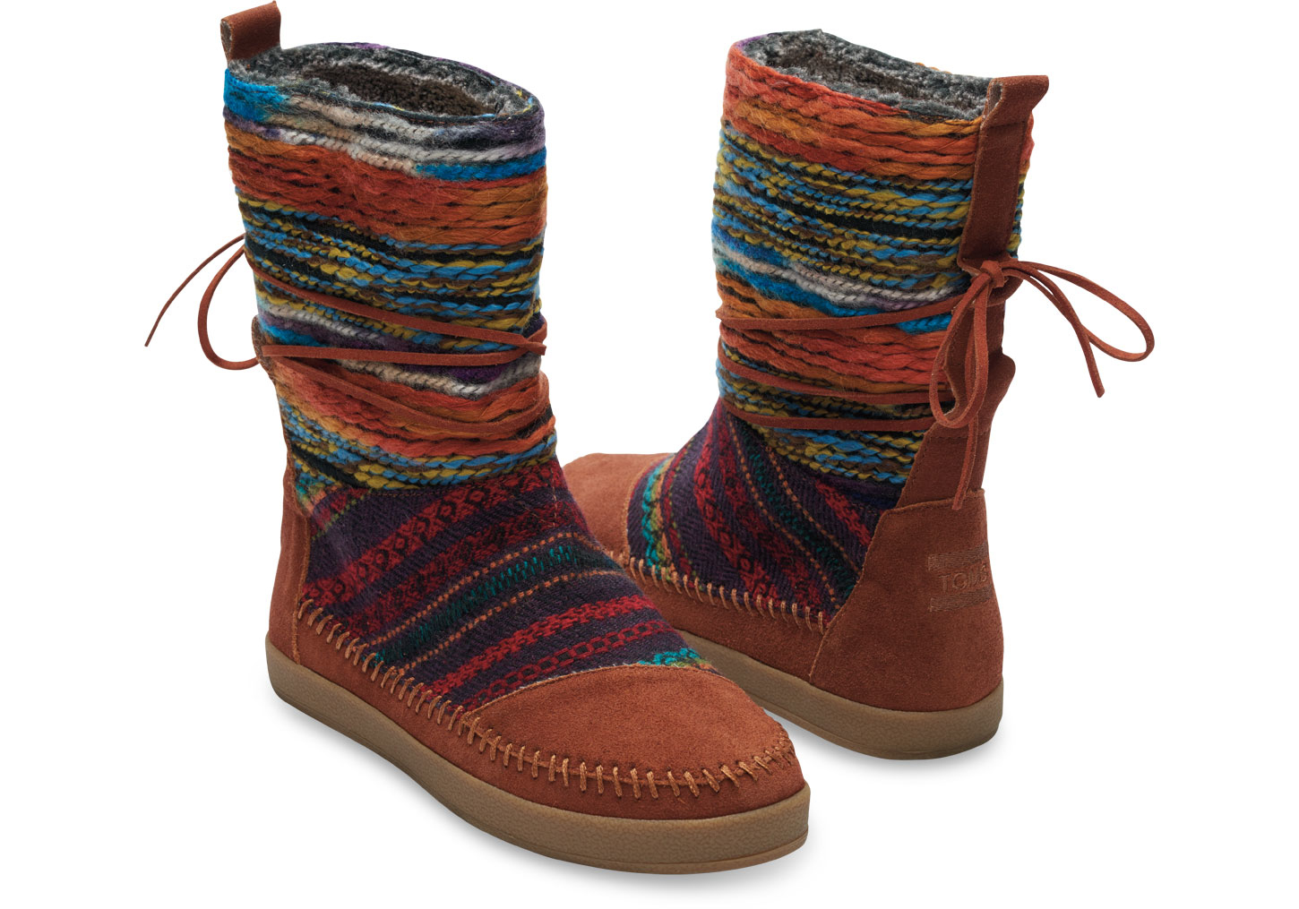 Toms Cognac Suede Textile Mix Womenu0026#39;s Nepal Boots In Brown | Lyst