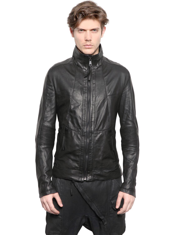 Alexandre plokhov Soft Leather Bomber Jacket in Black for Men | Lyst