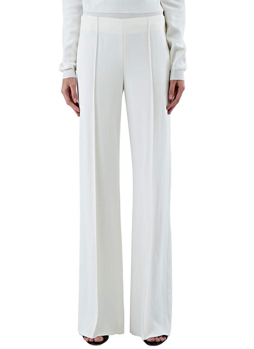 Agnona Women's Wide Leg Pants In Off-white in White | Lyst
