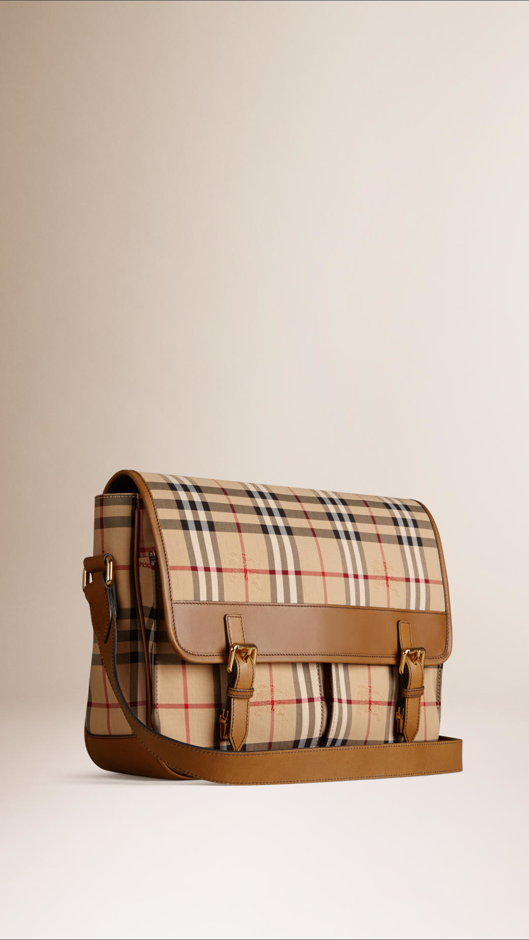 9085b255fa9e Lyst - Burberry Horseferry Check Messenger Bag in Natural for Men