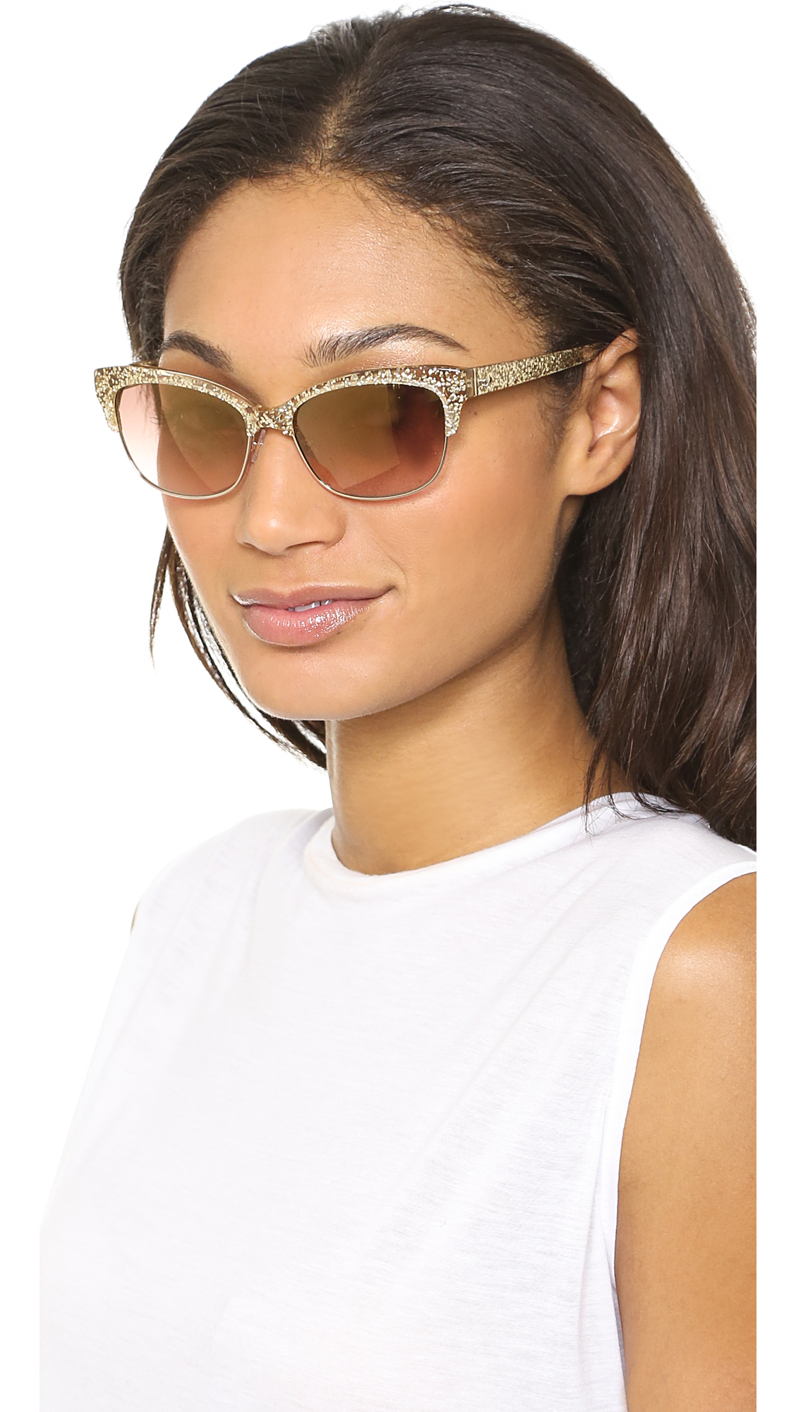 Lyst Kate Spade New York Shira Sunglasses Gold Glitter