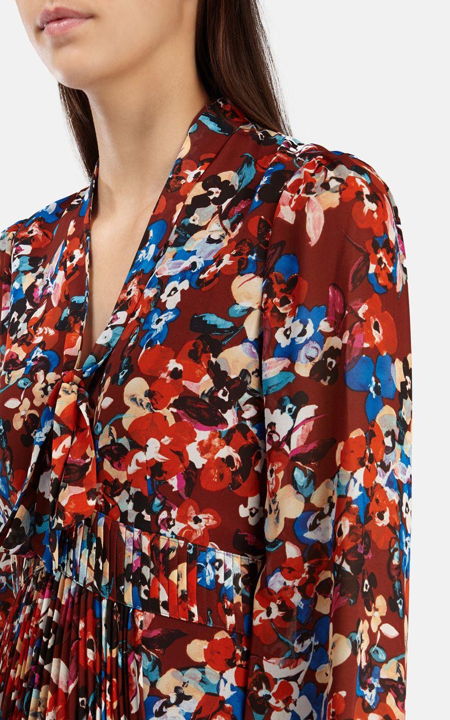 Karen Millen Red Floral Print Dress
