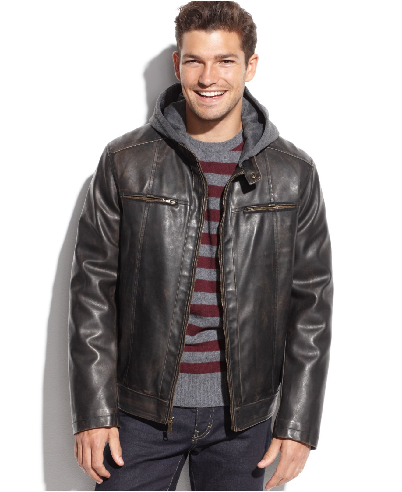 Brown Moto Jacket jXSg8N