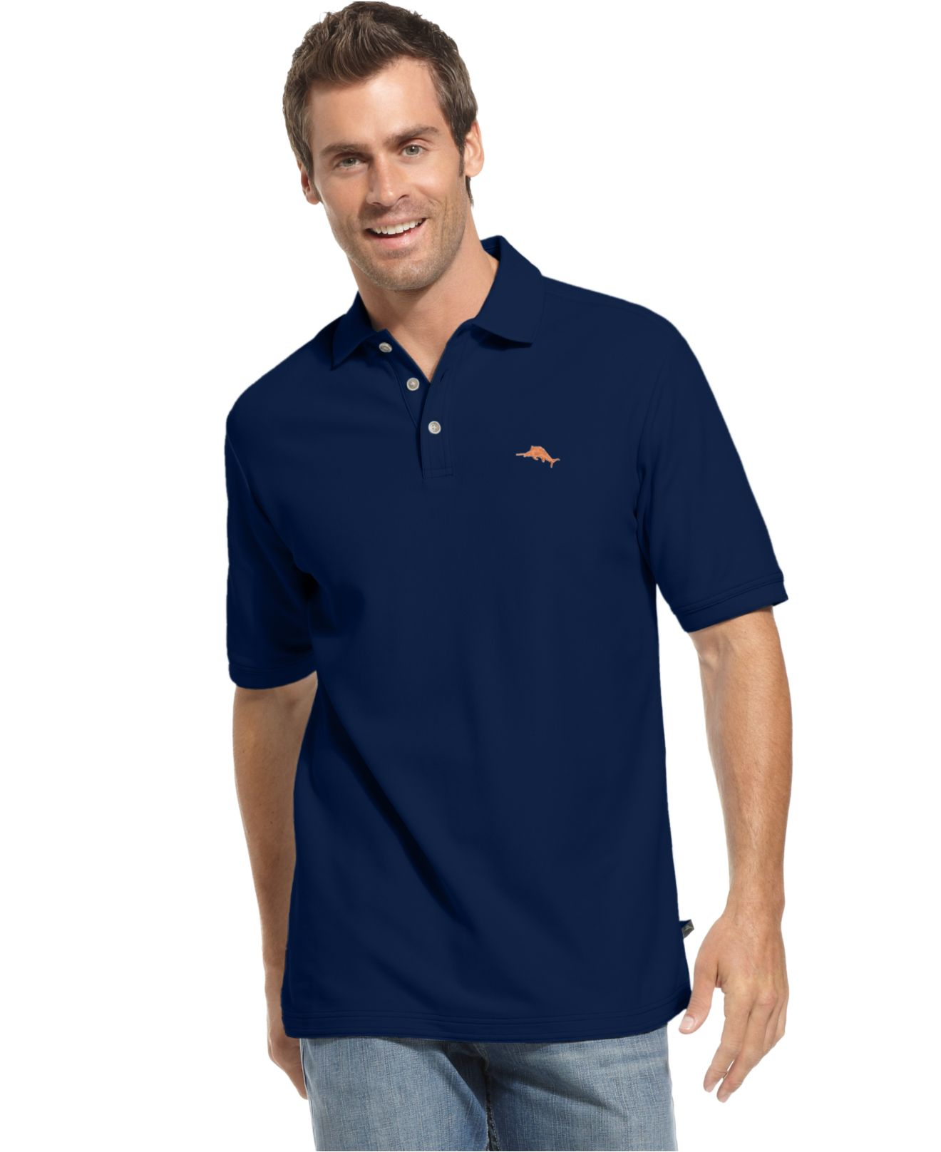 Tommy bahama men 39 s shirt emfielder polo shirt in blue for for Tommy bahama polo shirts on sale