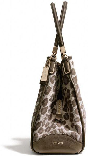 Coach Madison Phoebe Shoulder Bag In Ocelot Print Fabric 32