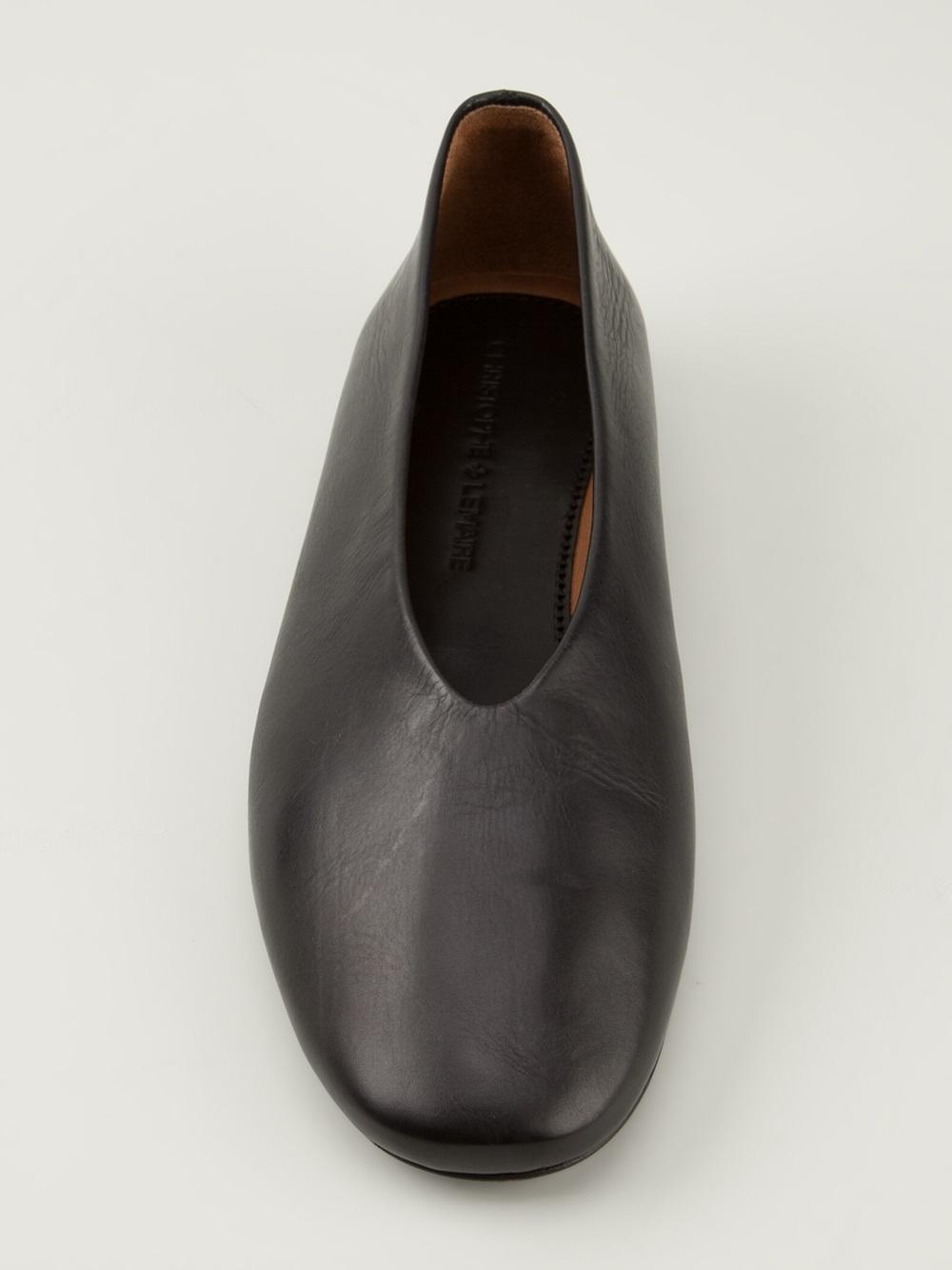 Christophe Lemaire Slipon Shoes In Black Lyst