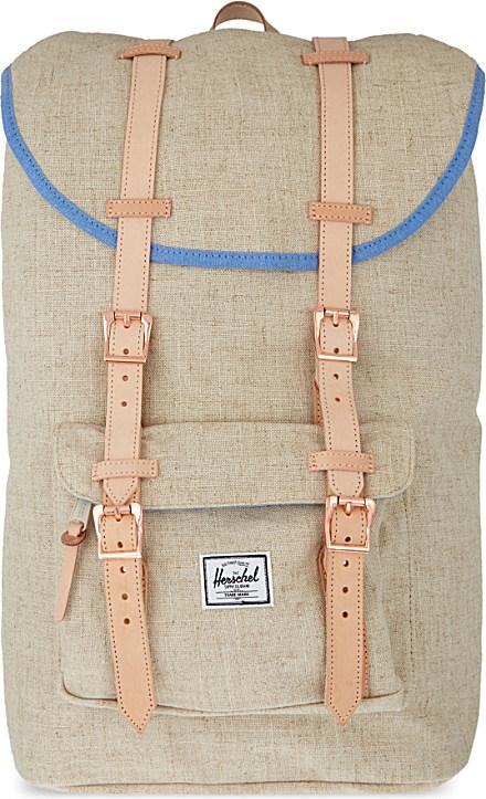 b7a952810a97 Herschel Supply Co. Little America Hemp Backpack in Natural for Men ...