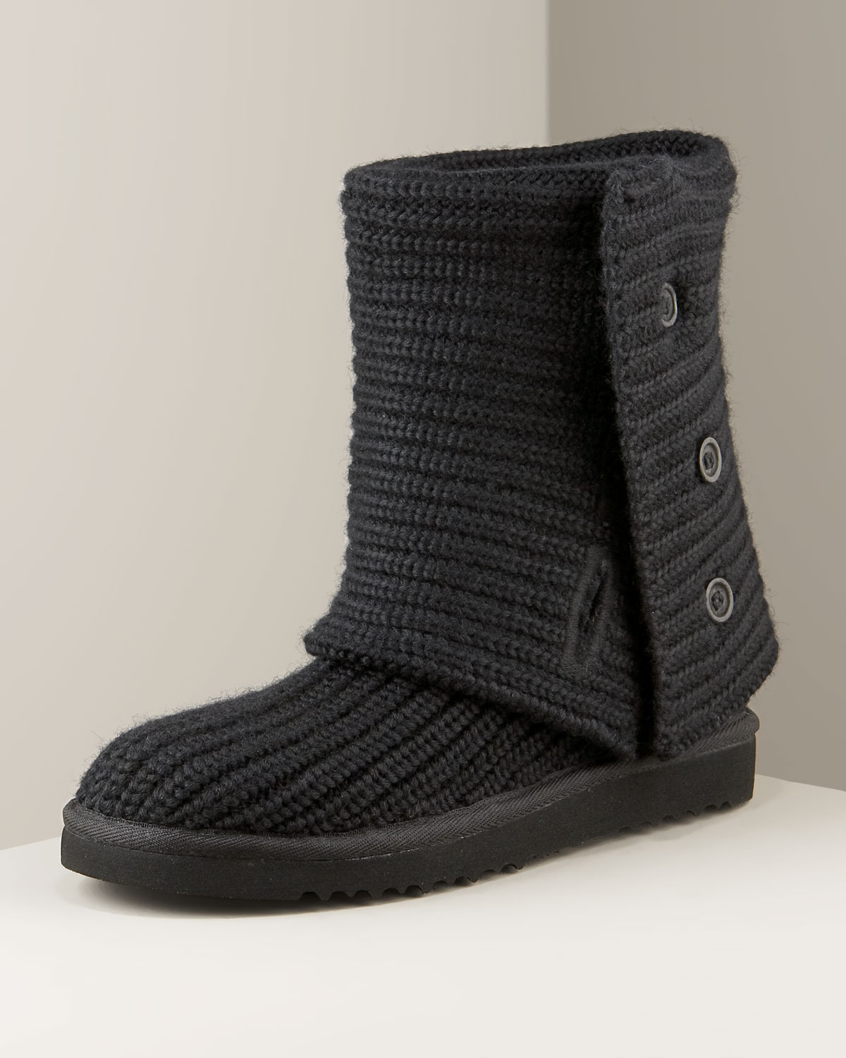 Ugg Crocheted Ankle Boots in Black Lyst