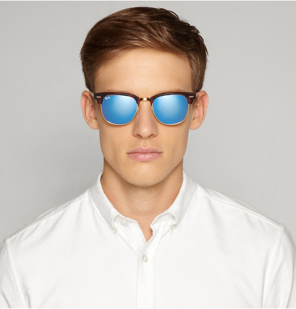 Men S Clubmaster Sunglasses  ray ban clubmaster mirrored sunglasses
