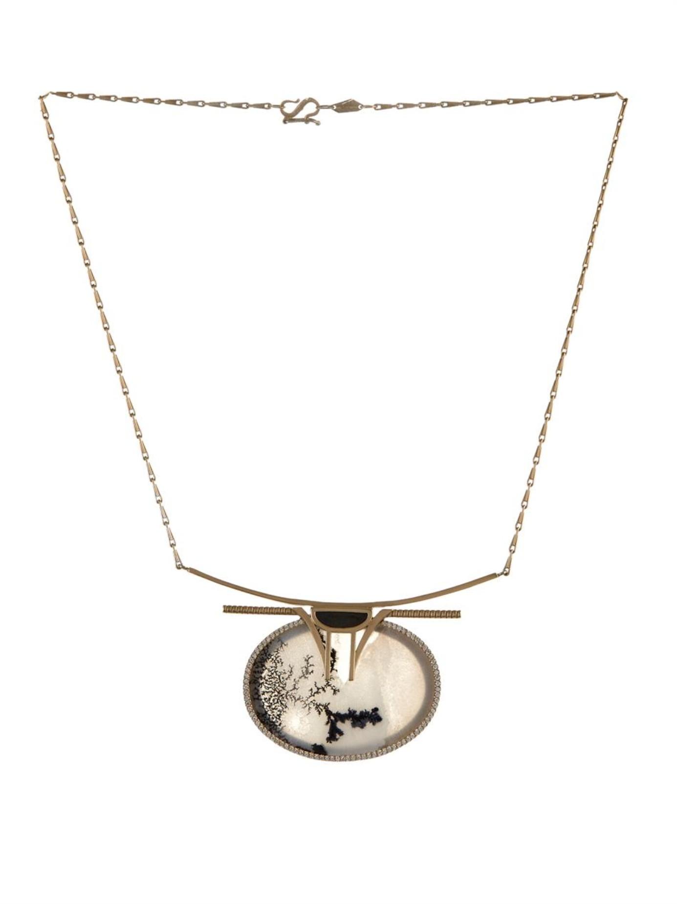 Monique Péan Diamond, jade & white-gold necklace