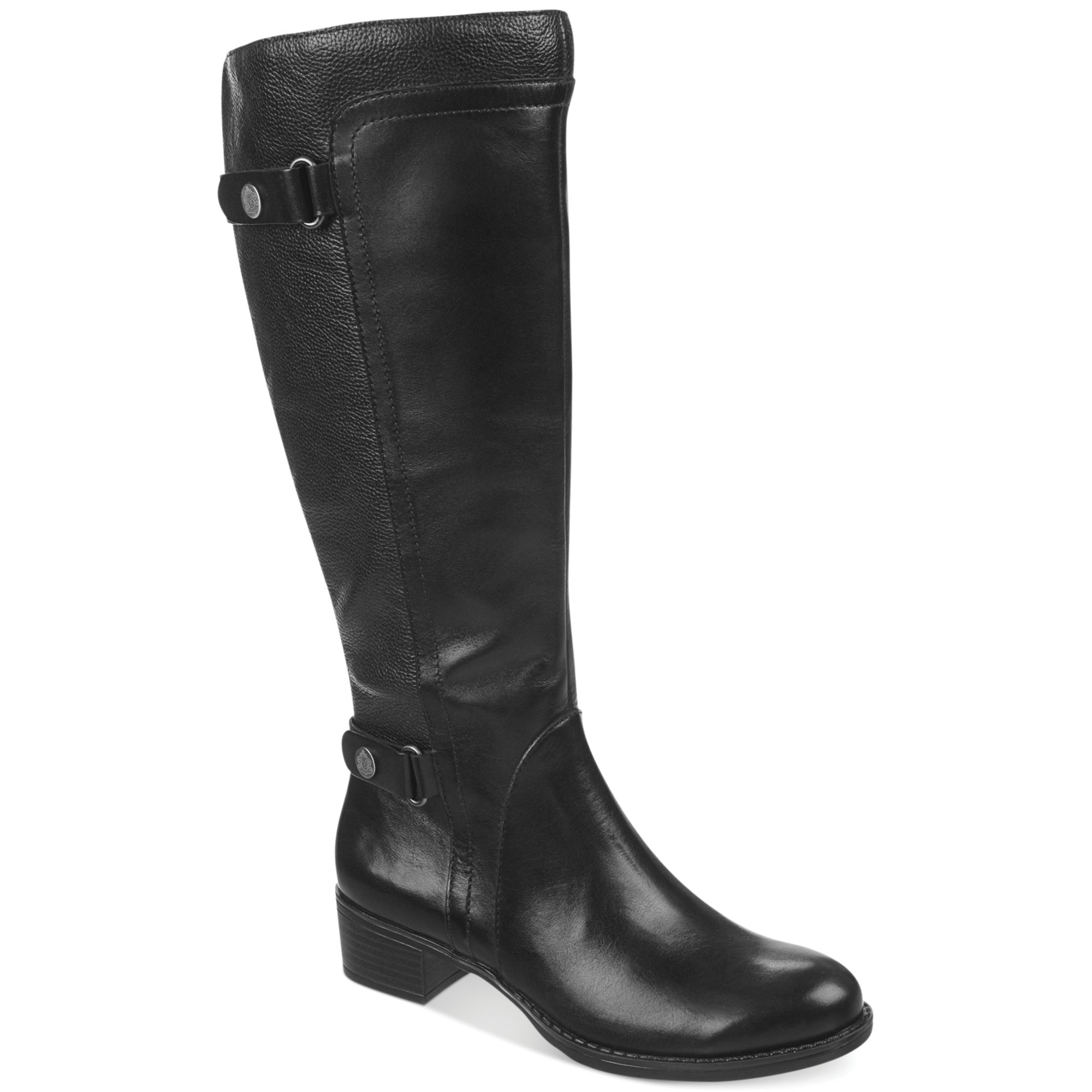 franco sarto crash wide calf boots in black lyst