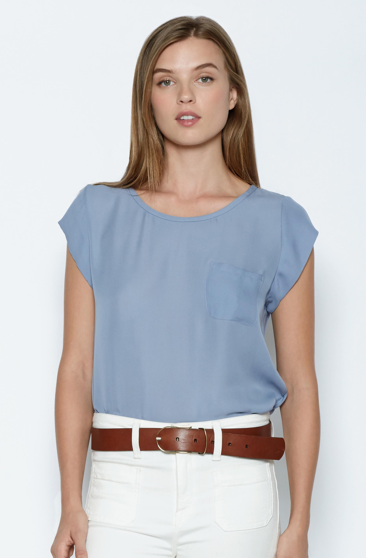 04dc98fff5589 Lyst - Joie Rancher Silk Top in Blue