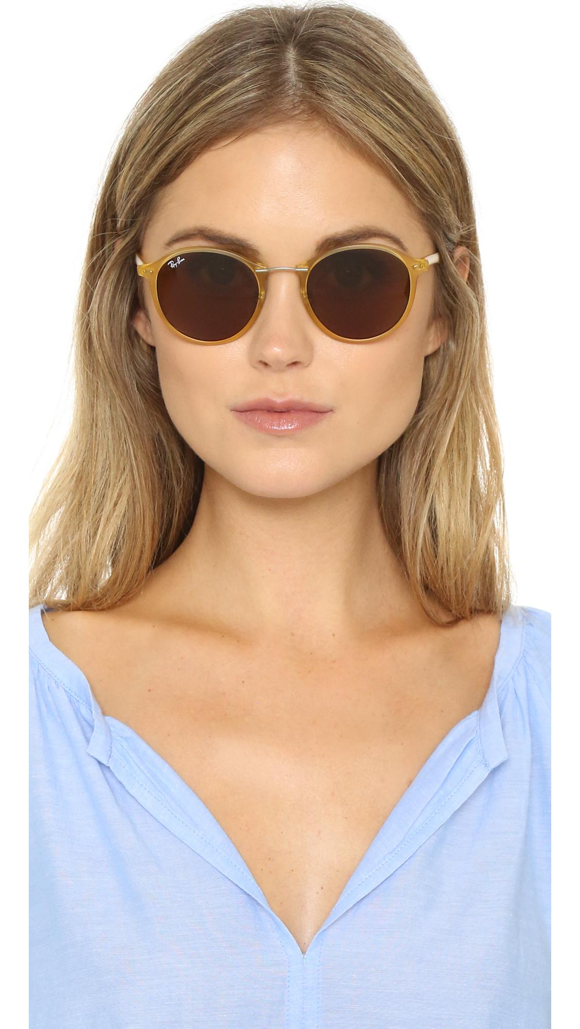 ed2ae5cfba6 ... norway ray ban tech light ray round sunglasses lyst f4ddd 184ed