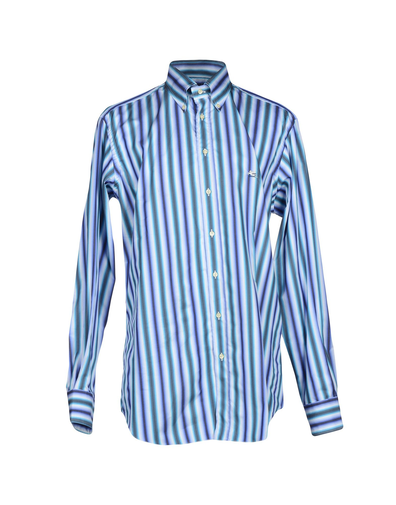 Etro shirt in blue for men lyst for Etro men s shirts