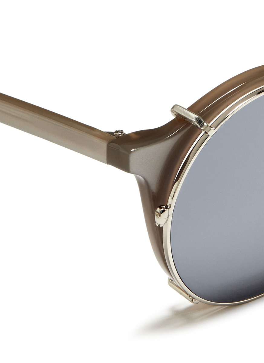 Sunday somewhere matahari clip on sunglasses in gray for for Sunday mirror