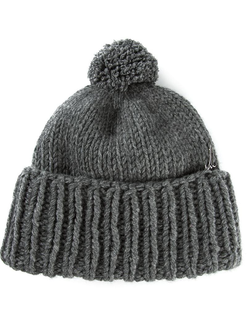 dafb5a29335 Lyst - Liska Bobble Hat in Gray