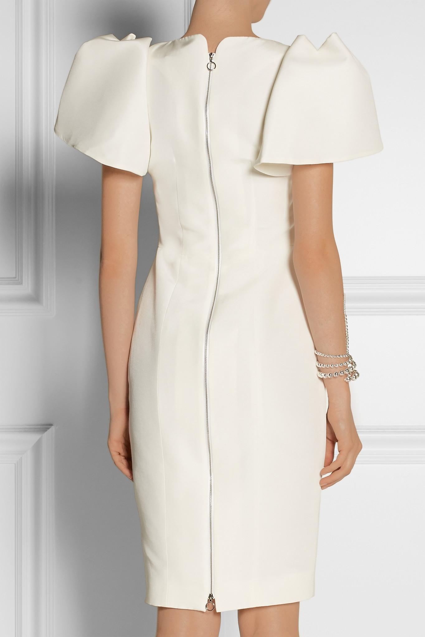 Lyst Roksanda Lynton Silk Dupioni Dress In White