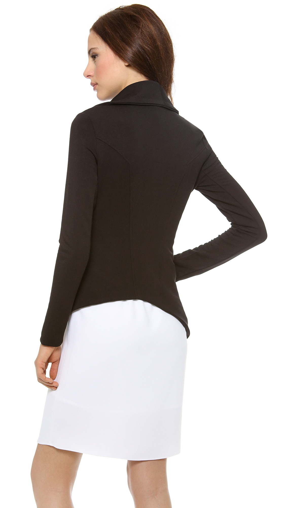 Helmut lang villous sweatshirt zip jacket in black lyst - Sweatshirt kleid lang ...
