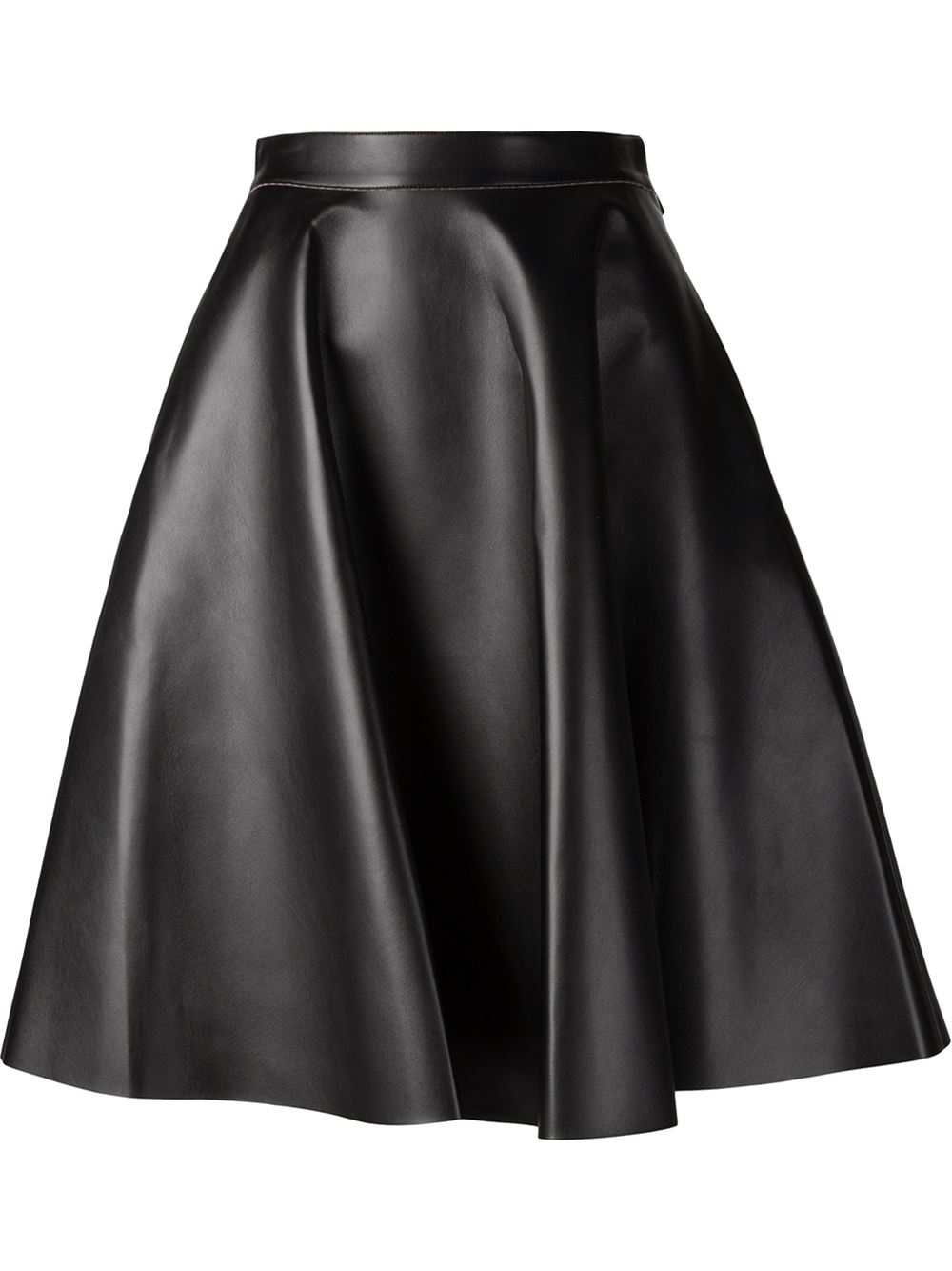 msgm faux leather skirt in lyst