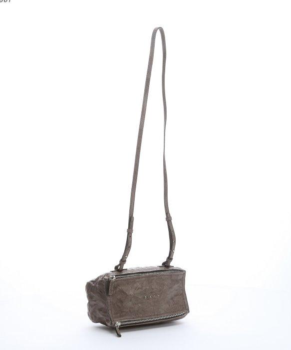 e1934180c55 Givenchy Grey Sheepskin Mini 'pandora' Shoulder Bag in Gray - Lyst