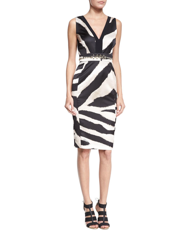 zebra print dress - Multicolour Just Cavalli q5iGCVIi