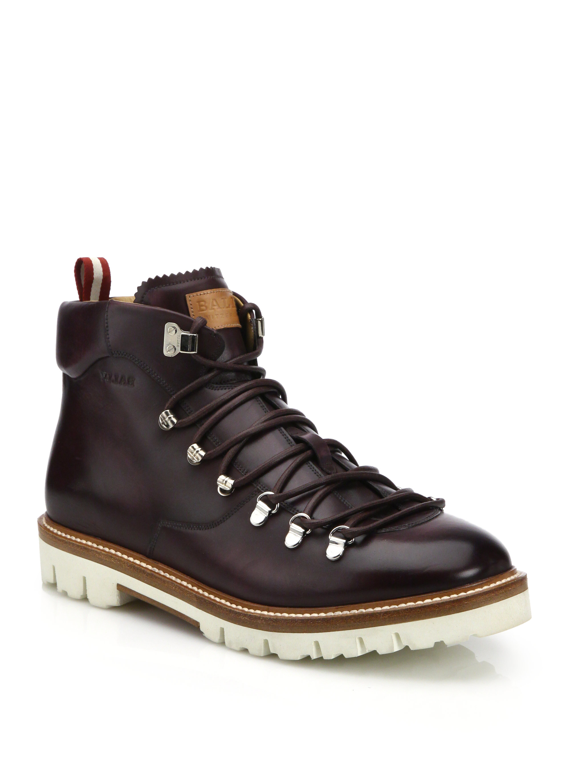 Bally J Cole For Leather Hiking Boots In Red For Men Lyst