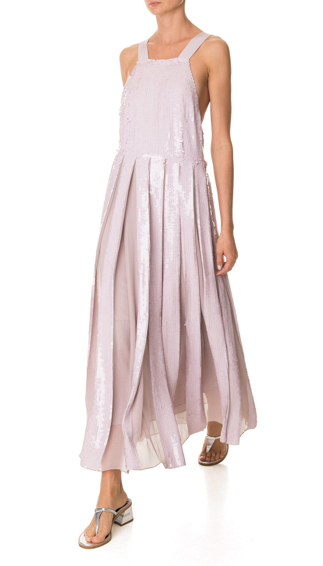 tibi rose quartz eclair sequins overall dress pink product 0 952917883 normal
