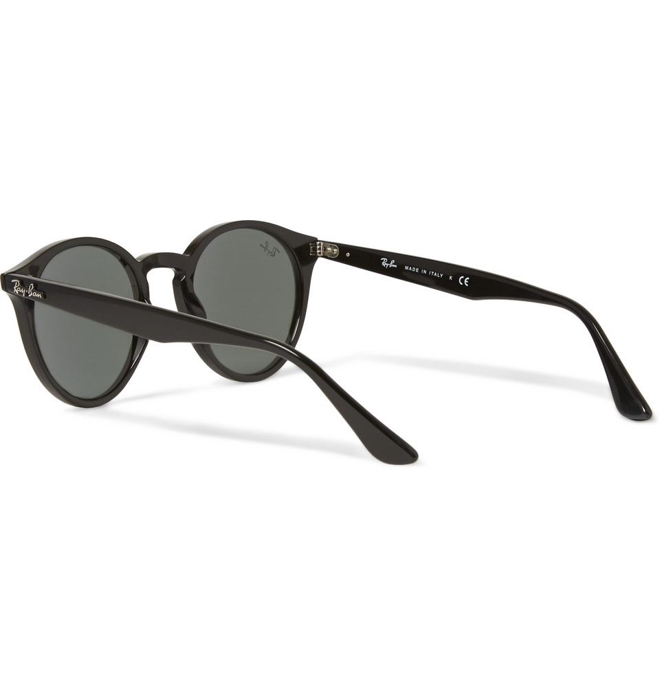 1ec13a3fc201e Ray-Ban 2180 Round-frame Acetate Sunglasses in Black for Men - Lyst