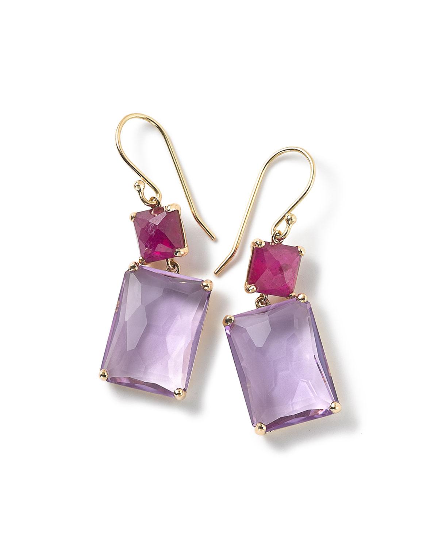Ippolita Rock Candy 18-karat Gold Amethyst Earrings 6Du8IM2qML