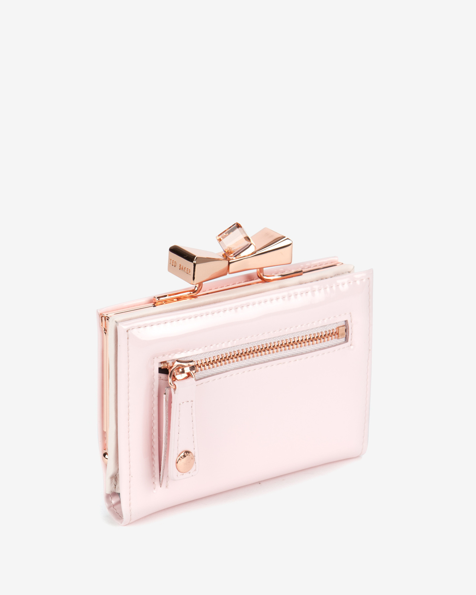 2db832e489e Ted Baker Small Patent Crystal Purse in Pink - Lyst