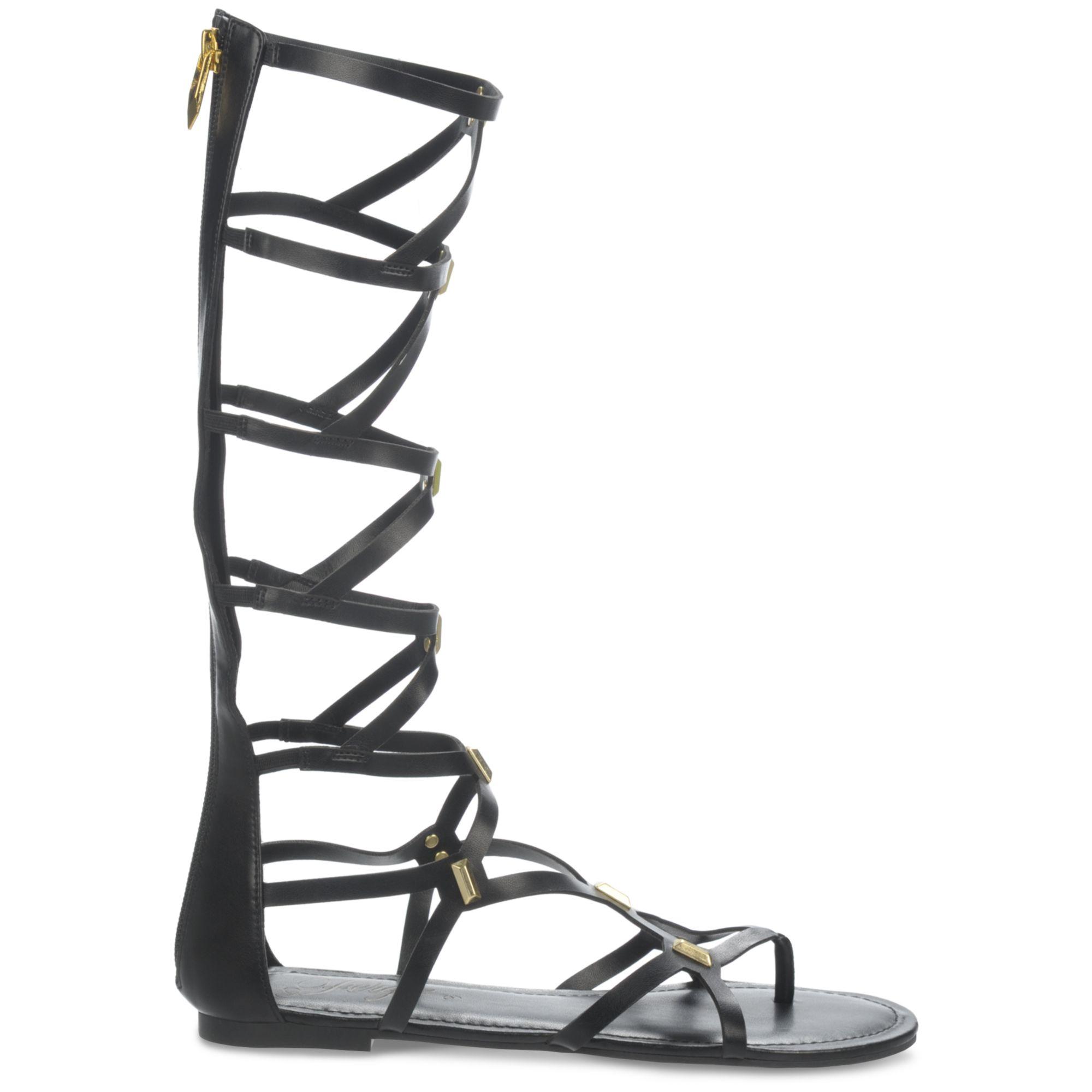 Fergie Fantastic Knee High Gladiator Sandals In Black Lyst