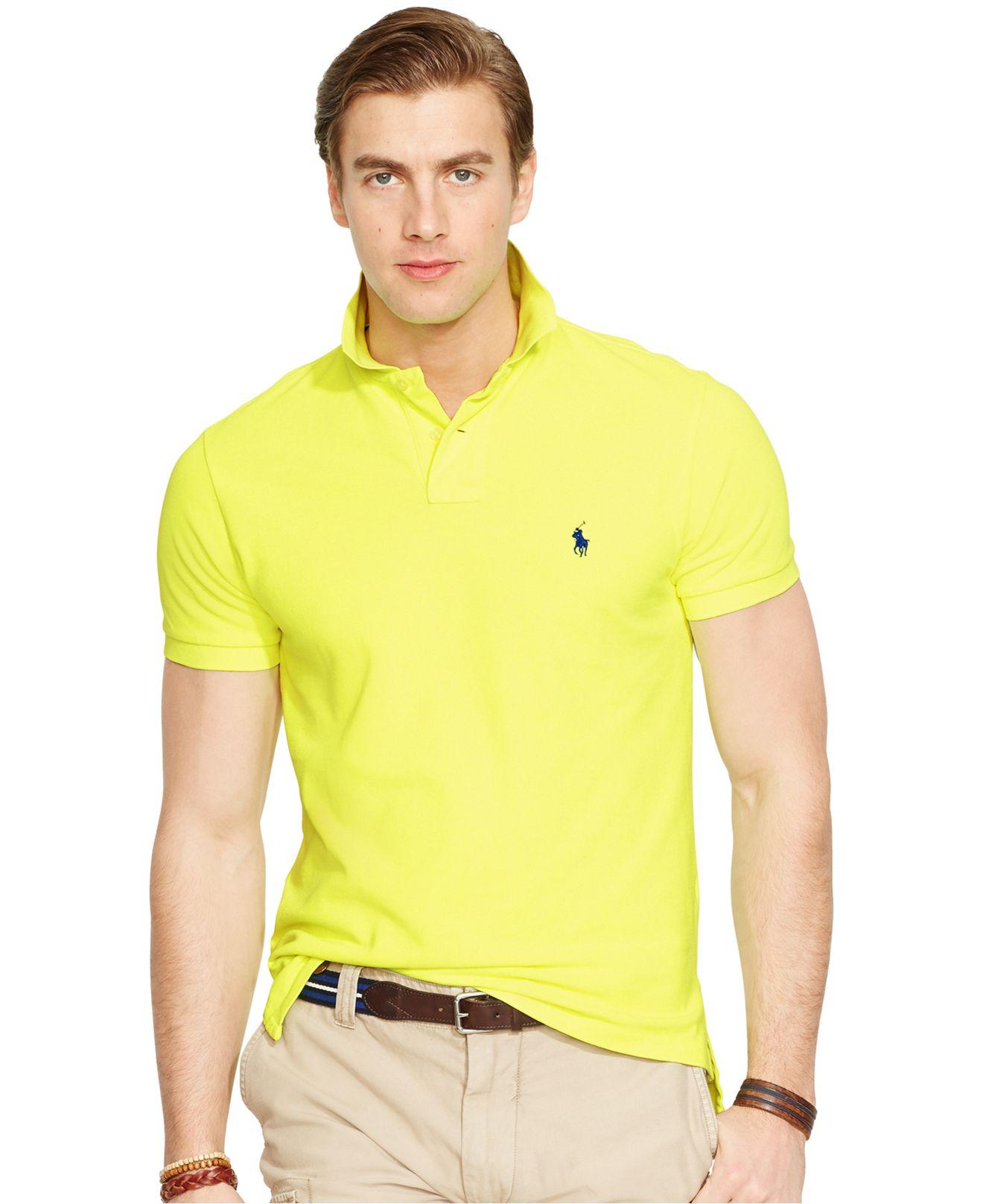 324f0dc8 reduced bright yellow ralph lauren polo shirt ac4a3 5d474