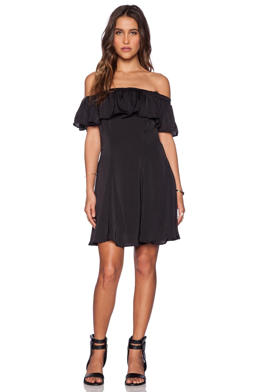 Capulet Spanish Shoulderless Mini Dress In Black Lyst