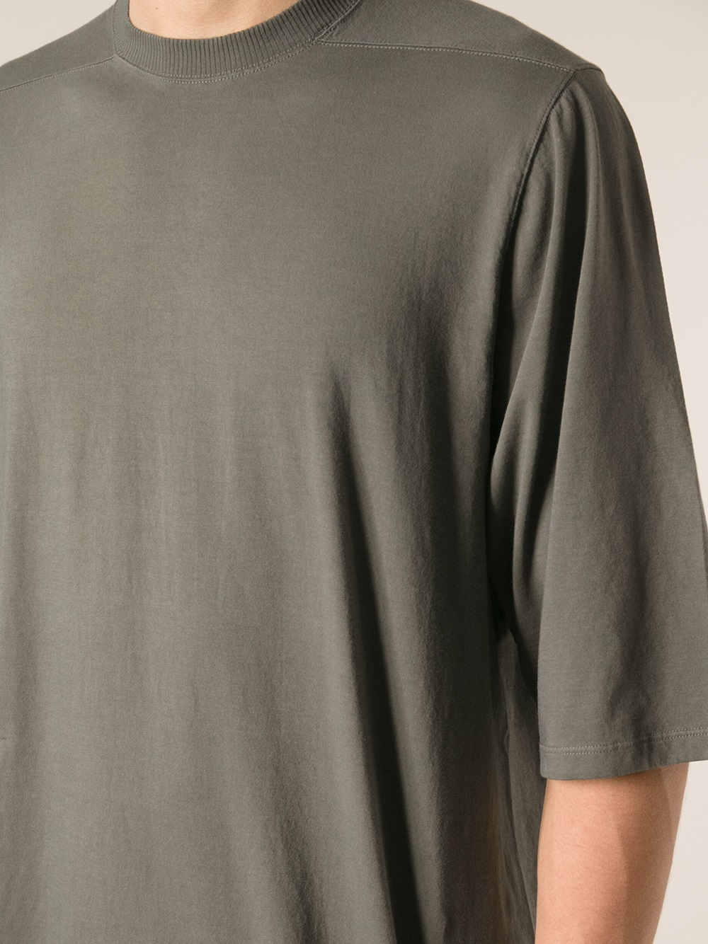 oversized T-shirt - Grey Rick Owens Outlet Prices Discount Classic Low Cost Cheap Online Buy Cheap Wide Range Of ZpQQik