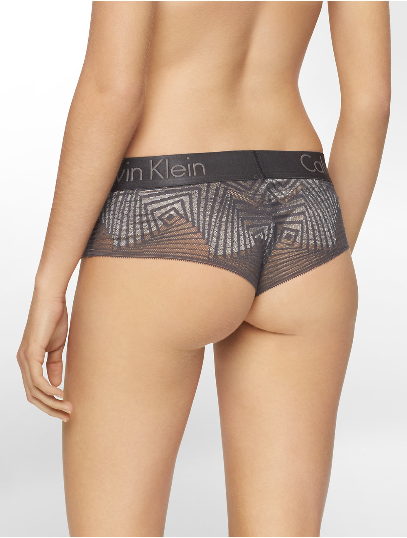 Calvin klein Underwear Dual Tone Lace Hipster in Gray | Lyst