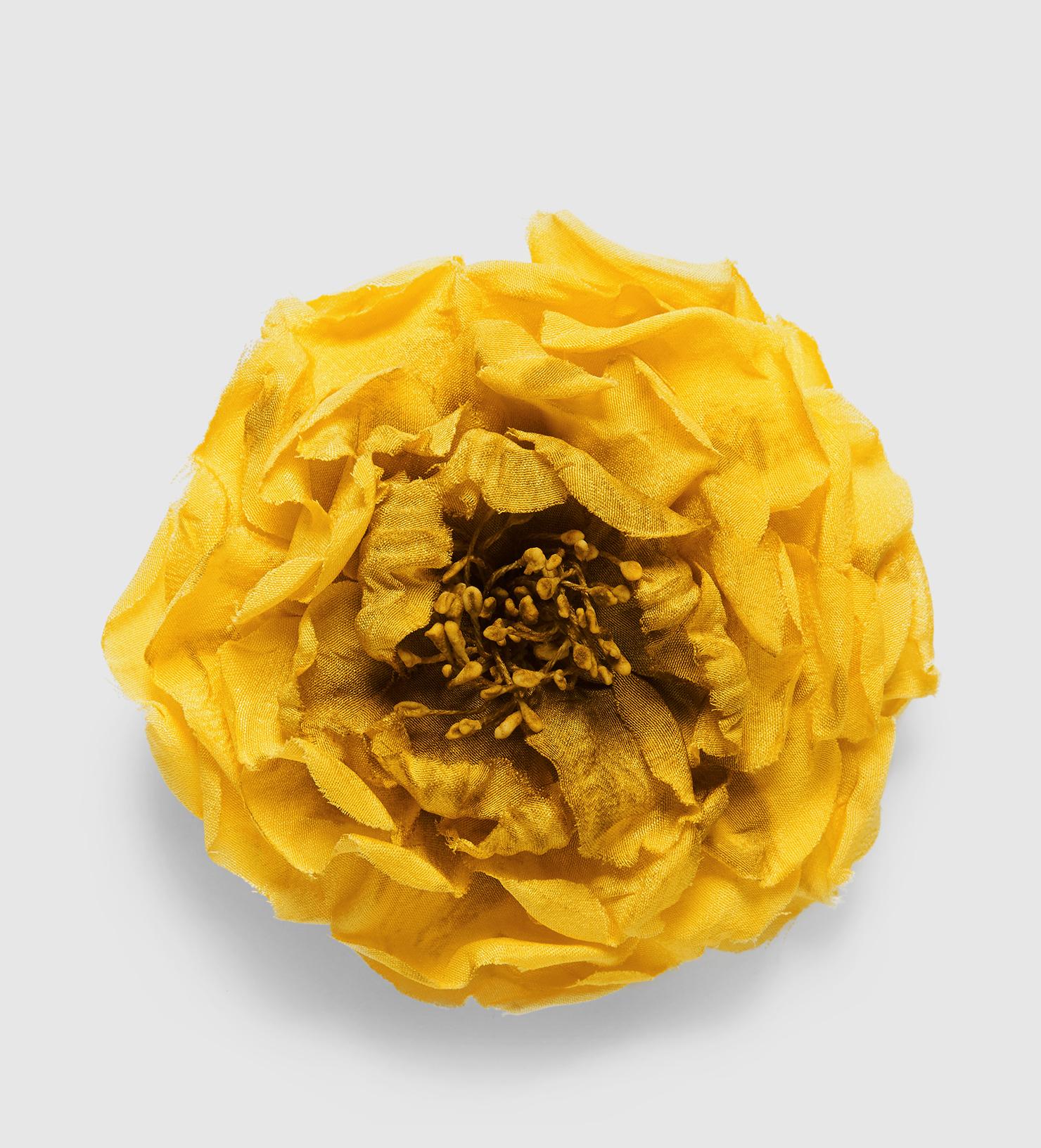 Gucci flower pin in silk in yellow lyst gallery mightylinksfo