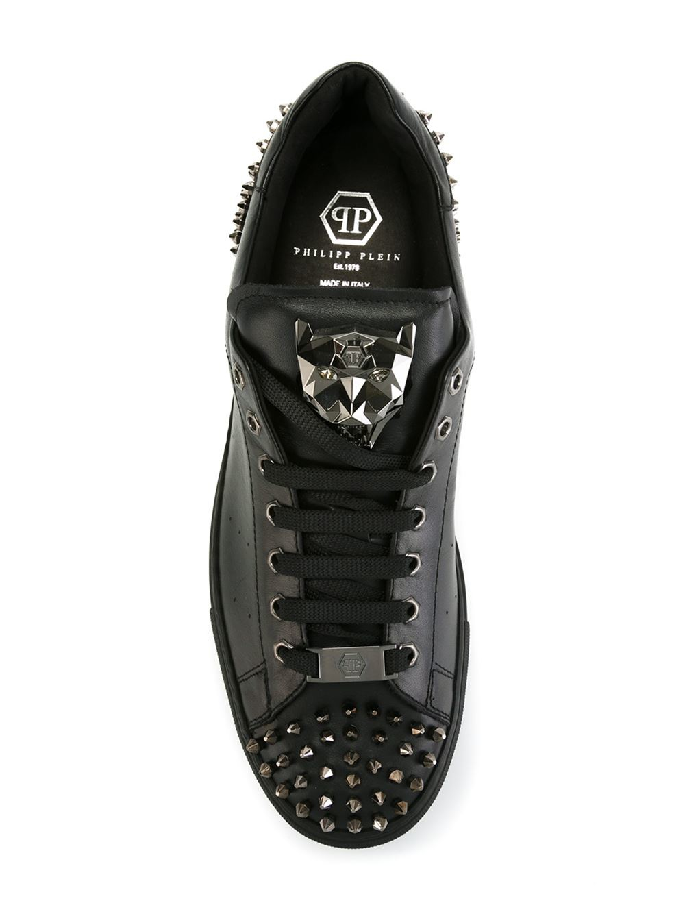 3c88de6730a Lyst - Philipp Plein  open  Sneakers in Black