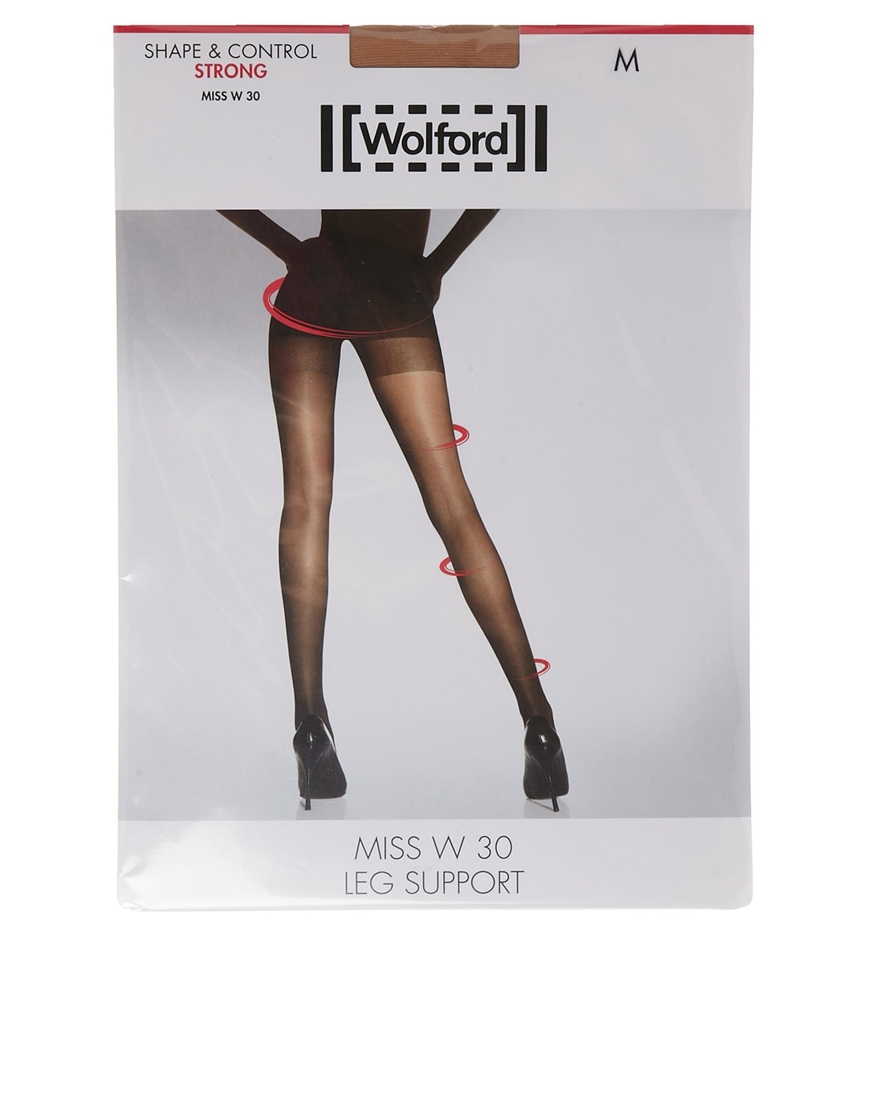 b8d7bb120 Wolford Miss W 30 Denier Support Tights in Natural - Lyst