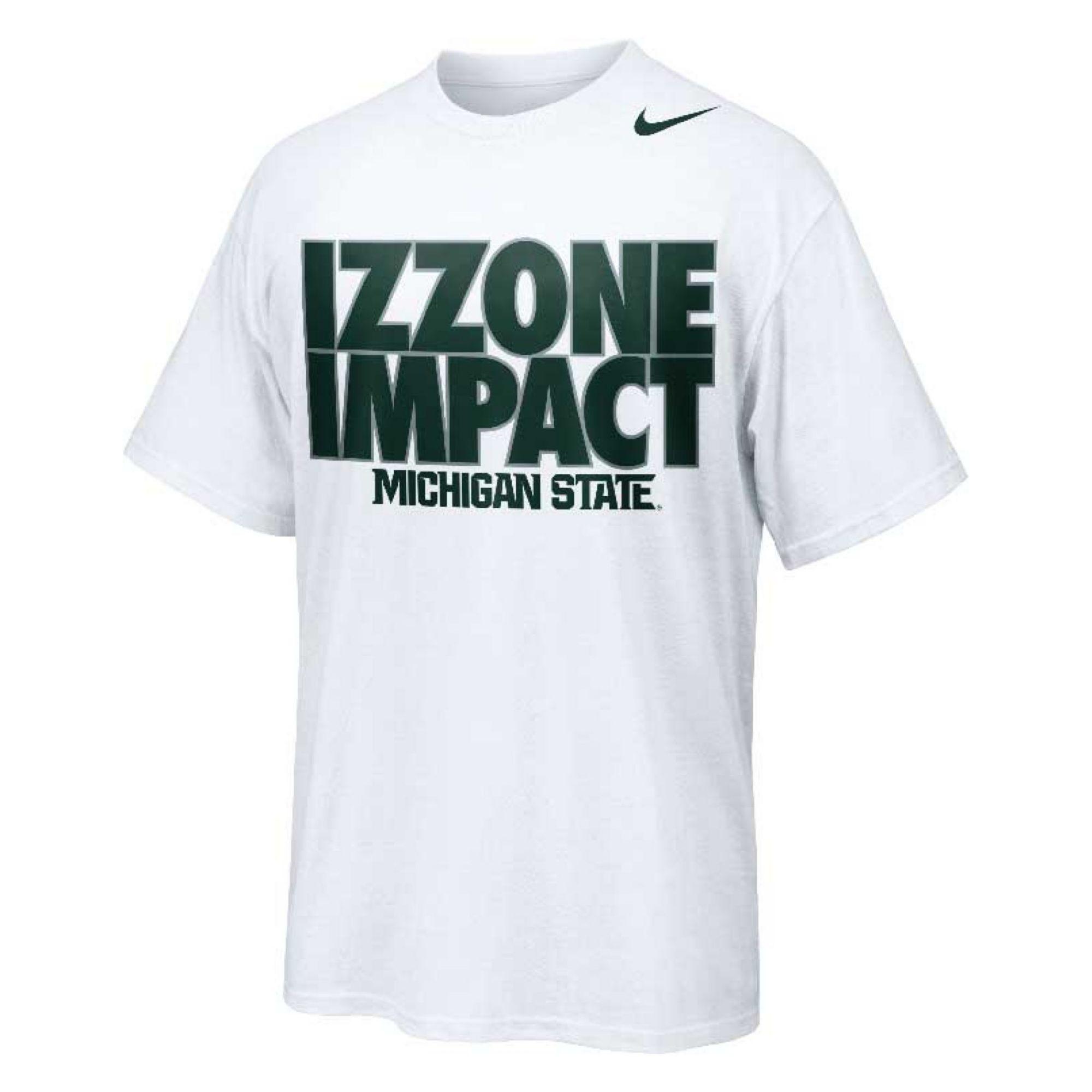 Nike men 39 s short sleeve michigan state spartans t shirt in for Michigan state spartans t shirts